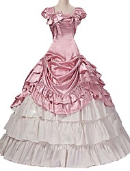 cheap -Rococo Victorian Costume Women's Outfits Pink Vintage Cosplay Taffeta Short Sleeve Puff / Balloon Sleeve Plus Size Customized