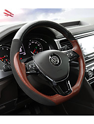 cheap -Steering Wheel Covers Genuine Leather 38cm Black / Coffee For Volkswagen Teramont 2017