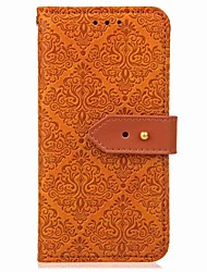 cheap -Case For OnePlus One Plus 5 / OnePlus 5T Wallet / Card Holder / with Stand Full Body Cases Geometric Pattern / Flower Hard PU Leather