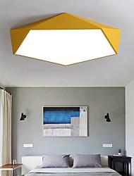 cheap -1-Light 40 cm LED Flush Mount Lights Metal Acrylic Geometrical Modern Contemporary 110-120V / 220-240V