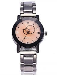 Недорогие -Жен. Наручные часы Модные часы Китайский Кварцевый Крупный циферблат сплав Группа На каждый день минималист Серебристый металл