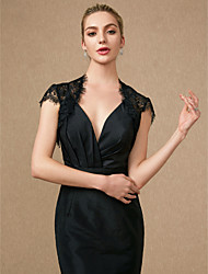 cheap -Short Sleeve Shrugs Lace Wedding / Party / Evening Women's Wrap With Lace