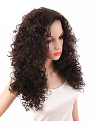 cheap -Synthetic Wig Curly Kinky Curly Kinky Curly Curly Wig Dark Brown Synthetic Hair Women's Middle Part African American Wig Brown