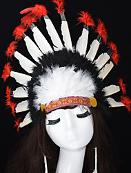 cheap -Feather Masquerade Mask Inspired by Red Classic Halloween Masquerade Men's Women's / Hair Band / Hair Band