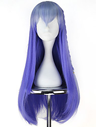 cheap -Cosplay Wigs Women's 30 inch Heat Resistant Fiber Blue Anime / Princess Lolita