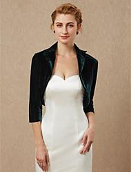 cheap -3/4 Length Sleeve Velvet Wedding / Party / Evening Women's Wrap With Shrugs