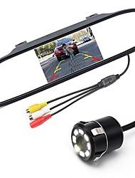 Недорогие -ziqiao 5-дюймовый цифровой tft ЖК-монитор зеркала и 8led ccd hd автомобиль камера заднего вида