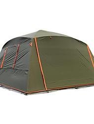 Недорогие -7 человек Туристическая палатка-хижина Семейный кемпинг-палатка На открытом воздухе Водонепроницаемость С защитой от ветра Защита от солнечных лучей Однослойный Карниза Туристическая палатка-хижина