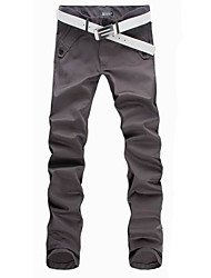 cheap -Men's Plus Size Formal Work Straight / Chinos Pants - Solid Colored Cotton Summer Fall Black Gray Khaki 32 34 36