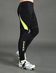 cheap -SANTIC Men's Cycling Tights Bike Leggings Pants Bottoms Windproof Sports Solid Color Elastane Winter Black Mountain Bike MTB Road Bike Cycling Clothing Apparel Advanced Semi-Form Fit Bike Wear