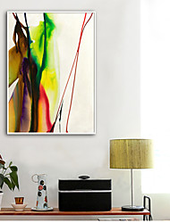 cheap -Framed Canvas Framed Set - Abstract Plastic Illustration Wall Art