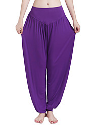 cheap -Women's Yoga Pants Harem Bloomers Breathable Quick Dry Black Purple Gray Cotton Zumba Pilates Fitness Sports Activewear Stretchy