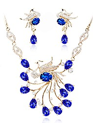 cheap -Women's Crystal Jewelry Set Bridal Jewelry Sets Classic Fashion Gold Plated Earrings Jewelry Blue For Wedding Evening Party