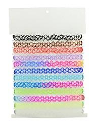 Недорогие -Жен. Ожерелья-бархатки Дамы Классический Мода пластик Цвет радуги Ожерелье Бижутерия 10 шт. Назначение Повседневные Новый год