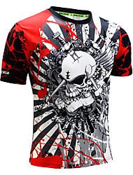 cheap -Men's Spandex Running Shirt 1 pc Running Exercise & Fitness Racing Breathable Quick Dry Anatomic Design Sportswear Animal Tee / T-shirt Sweatshirt Top Short Sleeve Activewear High Elasticity