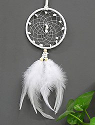 cheap -Boho Dream Catcher Handmade Gift Wall Hanging Decor Art Ornament Craft Bead Feather 35*9cm for Kids Bedroom Wedding Festival