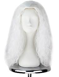 cheap -Cosplay Wigs Men's Women's 22 inch Heat Resistant Fiber White Anime / Princess Lolita