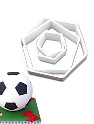 Недорогие -Футбол футбол торт украшение 3d тиснение формы печенья выпечки плесень