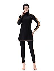 abordables -Femme Grandes Tailles Basique Noir Marine Violet Burkini Maillots de Bain - Rayé XL XXL XXXL Noir