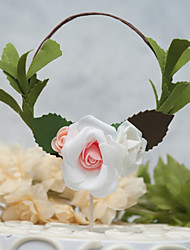 cheap -Cake Topper Floral Theme New Handmade Customized Materials Wedding Birthday with Floral 1 OPP