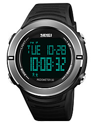 cheap -SKMEI Men's Sport Watch Digital Watch Japanese Digital 50 m Water Resistant / Water Proof Alarm Chronograph PU Band Digital Casual Fashion Black - Black Red Blue One Year Battery Life / Stopwatch