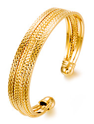 cheap -Women's Cuff Bracelet Ladies Fashion Dubai Gold Plated Bracelet Jewelry Gold For Party Gift