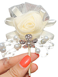 "cheap -Wedding Flowers Boutonnieres Wedding / Event / Party Satin 2.76""(Approx.7cm)"