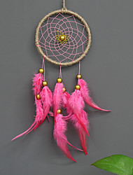 cheap -Boho Dream Catcher Handmade Gift Wall Hanging Decor Art Ornament Craft Feather Bead 40*11cm for Kids Bedroom Wedding Festival