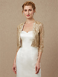 cheap -3/4 Length Sleeve Sequined Wedding / Party / Evening Women's Wrap With Shrugs