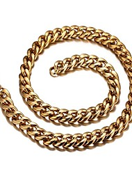 cheap -Men's Chain Necklace Twisted Mariner Chain Fashion Dubai Stainless Steel Titanium Steel 18K Gold Gold Necklace Jewelry One-piece Suit For Gift Daily