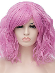 cheap -Synthetic Wig Water Wave Kardashian Water Wave Wig Blonde Pink Short Light golden Pink / Purple Light Brown Purple / Blue Rose Gold Synthetic Hair Women's Red Blue Blonde