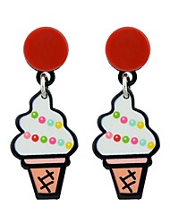 cheap -Women's Drop Earrings Ice Cream Watermelon Ladies Fashion Earrings Jewelry White / Red For Daily Date