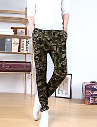 cheap -Men's Simple Cotton Skinny Sweatpants Pants - Camouflage