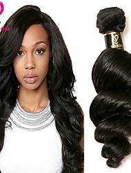 cheap -1 Bundle Peruvian Hair Loose Wave Human Hair Natural Color Hair Weaves Human Hair Weaves Human Hair Extensions Women's