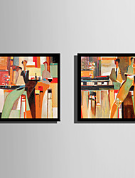 cheap -Framed Canvas Framed Set - Abstract People Plastic Illustration Wall Art