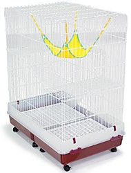 cheap -Cats Tray Cages Plastics Iron(nickel plated) PP+ABS Pet Liners Solid Colored Foldable Flexible Durable White For Pets