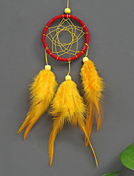 cheap -Boho Dream Catcher Handmade Gift Wall Hanging Decor Art Ornament Craft Feather Bead 26*6cm for Kids Bedroom Wedding Festival