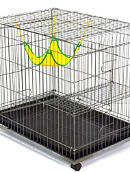 cheap -Cats Tray Cages Plastics Iron(nickel plated) PP+ABS Pet Liners Solid Colored Foldable Flexible Durable Silver For Pets