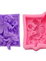 Недорогие -ангел девушка 3d силиконовые формы торт помадка поделки мыло suagarcraft формы выпечки инструменты