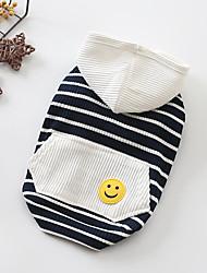 abordables -Chiens Tee-shirt Vêtements pour Chien Rouge Bleu Costume Bébé Petit Chien Coton Rayé Britanique XS S M L XL XXL