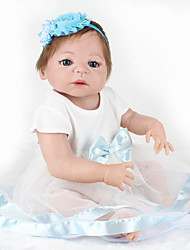 cheap -NPKCOLLECTION NPK DOLL Reborn Doll Baby 22 inch Full Body Silicone Silicone Vinyl - lifelike Cute Hand Made Child Safe Non Toxic Lovely Kid's Girls' Toy Gift / Parent-Child Interaction / CE Certified