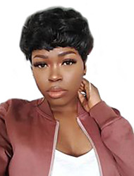 cheap -Human Hair Capless Wigs Human Hair Natural Wave Pixie Cut / Short Hairstyles 2019 / With Bangs Halle Berry Hairstyles Machine Made Wig
