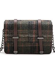 cheap -Women's Buttons Nylon Shoulder Messenger Bag Dark Green / Brown / Dark Brown / Fall & Winter