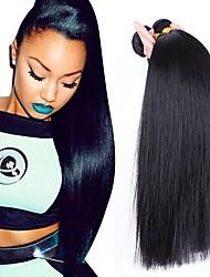 cheap -3 Bundles Hair Weaves Brazilian Hair Straight Human Hair Extensions Remy Human Hair 100% Remy Hair Weave Bundles 300 g Natural Color Hair Weaves / Hair Bulk Human Hair Extensions 8-28 inch Natural