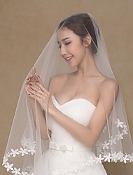 cheap -One-tier Voiles & Sheers Wedding Veil Elbow Veils with Chiffon / Classic