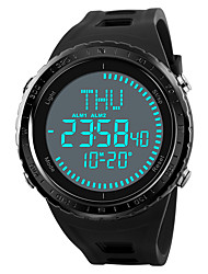 cheap -SKMEI Men's Sport Watch Military Watch Digital Watch Japanese Digital 50 m Water Resistant / Water Proof Alarm Chronograph PU Band Digital Casual Black / Green / Grey - Black Gray Green One Year