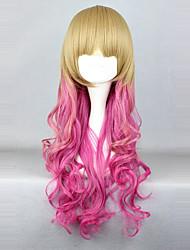 cheap -Cosplay Wigs Men's Women's 26 inch Heat Resistant Fiber Fuchsia Anime