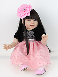 cheap -NPKCOLLECTION NPK DOLL Reborn Doll Baby Reborn Baby Doll 22 inch Silicone Vinyl - lifelike Cute Hand Made Child Safe Non Toxic Lovely Kid's Girls' Toy Gift / Parent-Child Interaction / CE Certified