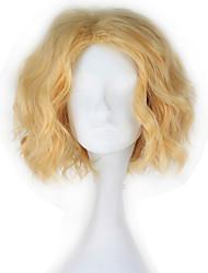 cheap -One Piece Saber Cosplay Wigs Men's Women's 12 inch Heat Resistant Fiber Golden Anime