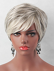 cheap -Human Hair Wig Classic Natural Wave Classic Natural Wave White Jet Black Daily